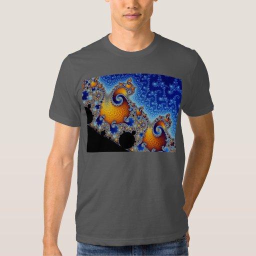 Fractal espiral doble azul de Mandelbrot Playeras