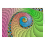 Fractal espiral en colores pastel felicitacion