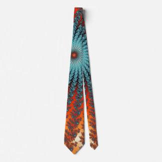 Fractal espiral enrrollado de la turquesa y del corbatas