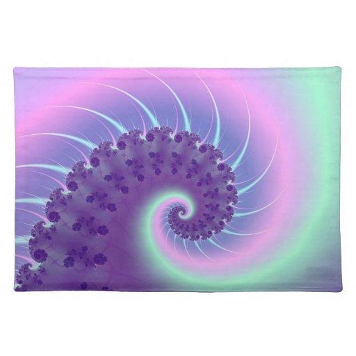 Fractal espiral Placemats de la onda Mantel