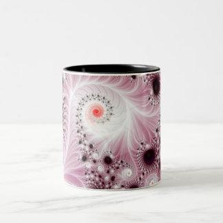 Fractal espiral plumoso tazas de café