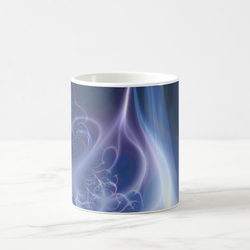 Fractal eterno de la llama tazas de café