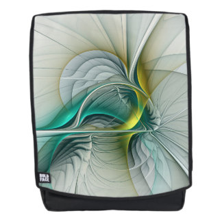 Fractal Evolution, Golden Turquoise Abstract Art Backpack