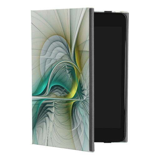 Fractal Evolution, Golden Turquoise Abstract Art iPad Mini 4 Case