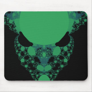 Fractal extranjero verde de la cara tapetes de raton