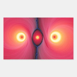Fractal Eyes Rectangular Sticker