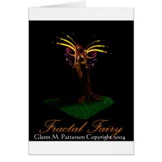 Fractal Fairy Greeting Card