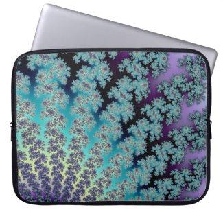 Fractal Fan Custom Sleeve in Purple and Blue Laptop Computer Sleeves