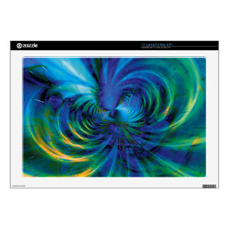 """Fractal Fantasy 18 Gifts Decal For 17"""" Laptop"""
