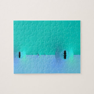 Fractal Farm in Blue & Turquoise Puzzle