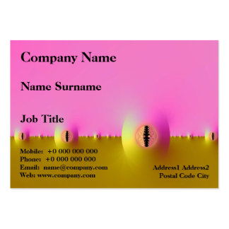 Fractal Farm in Pink and Gold Chubby Business Card Pack Of Chubby Business Cards