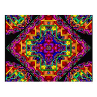 Fractal Fascination Kaleidoscope Postcard