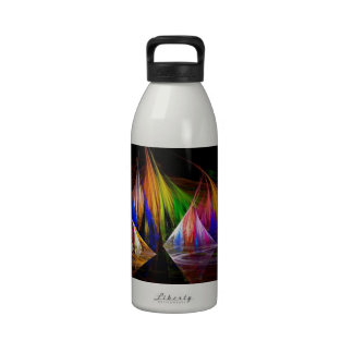Fractal Feathers Water Bottle