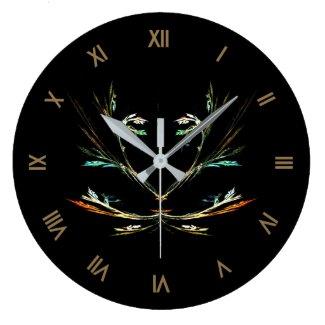 Fractal Fern Design Wall Clock