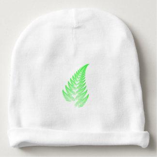 Fractal fern leaf baby beanie