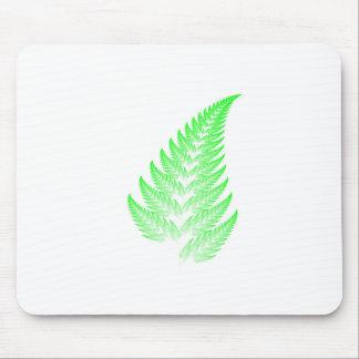 Fractal fern leaf mouse pad
