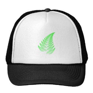 Fractal fern leaf trucker hat