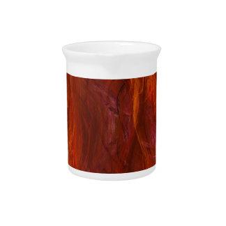 fractal-fire beverage pitcher