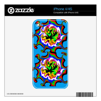 Fractal Fire Decals For The iPhone 4S