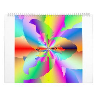 Fractal Fire Flower Flameout 2017 Calendar