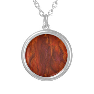 fractal-fire silver plated necklace