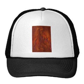 fractal-fire trucker hat