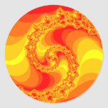 Fractal Fire type Graphic Classic Round Sticker