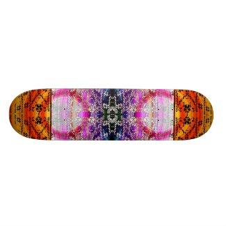Fractal Fire Violet Skate Deck