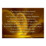 Fractal Firefly with Quotation Poster