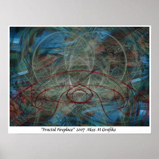 Fractal Fireplace Poster