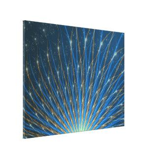 Fractal Fireworks Canvas Print