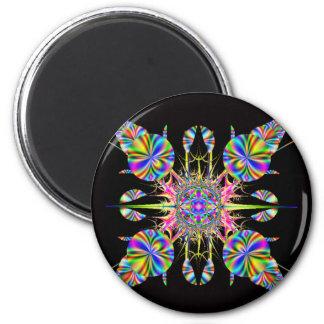 Fractal fireworks magnet
