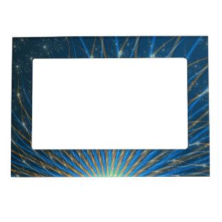 Fractal Fireworks Magnetic Picture Frame