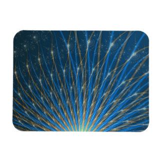 Fractal Fireworks Rectangular Magnets