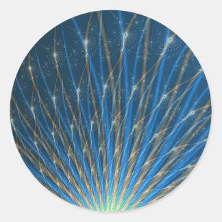 Fractal Fireworks Round Sticker