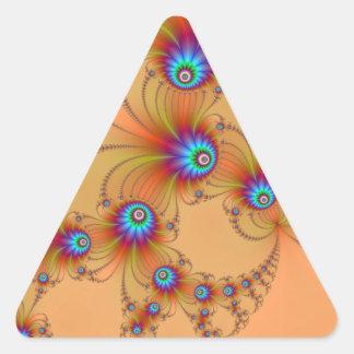 Fractal Fireworks Triangle Sticker