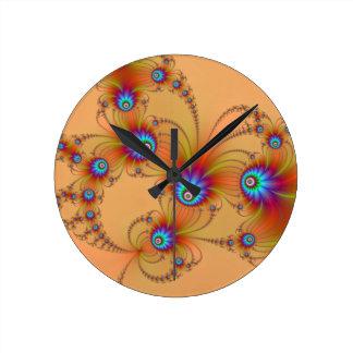 Fractal Fireworks Wall Clock