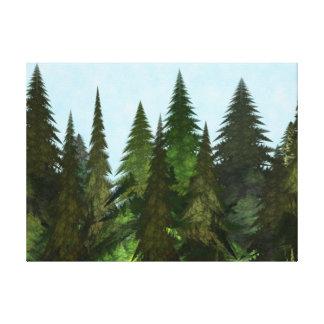 Fractal Firs Canvas Print