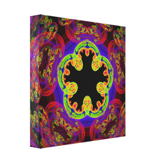 Fractal Five-Fold Wrapped Canvas
