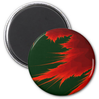 Fractal Flame 2 Inch Round Magnet