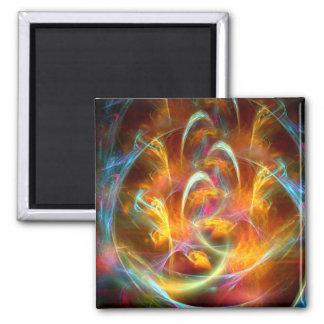 Fractal Flame 2 Inch Square Magnet