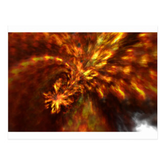 Fractal Flame Art Postcard