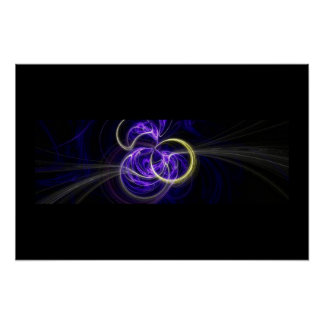 Fractal Flame : Blue Implosion Poster