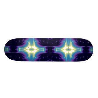 FRACTAL FLAME , blue violet Skateboard