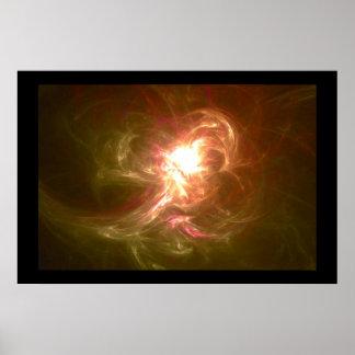 Fractal Flame : burned Light Poster