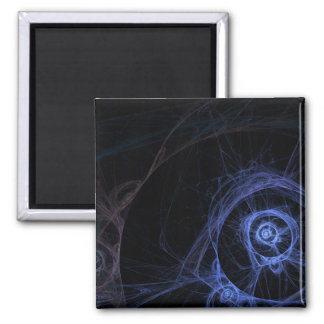 Fractal Flame: Peacock Rose 2 Inch Square Magnet