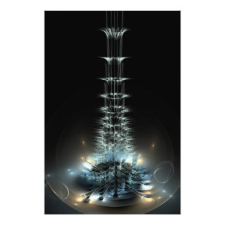 Fractal flame spiral flower photograph
