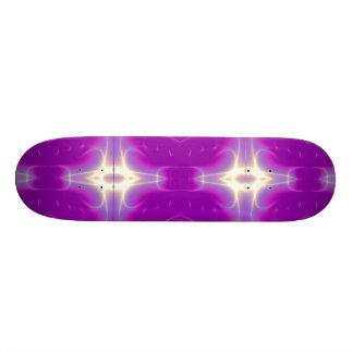 FRACTAL FLAME , violet purple pink Skateboard Deck
