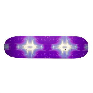 FRACTAL FLAME , violet purple Skateboard Deck