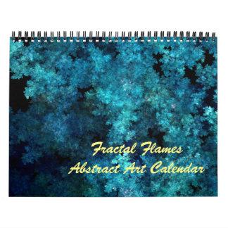 Fractal Flames abstract art calendar